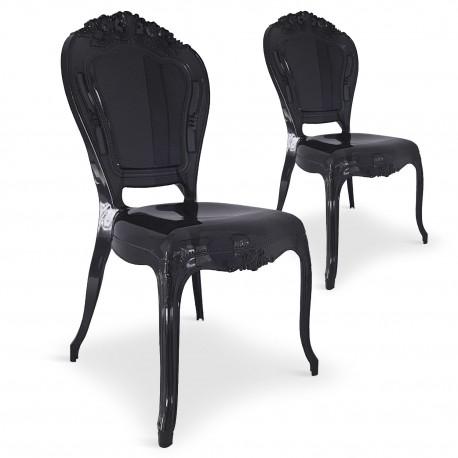 Chaises royales Plexi Noir pas cher