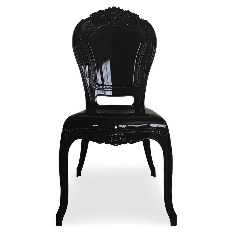 chaises royales plexi noir pas cher scandinave deco. Black Bedroom Furniture Sets. Home Design Ideas