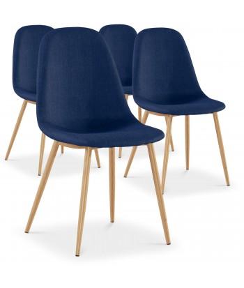 Chaises scandinaves Karl Tissu Bleu pas cher