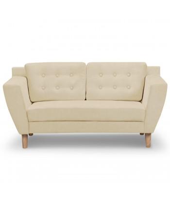 Canapé 2 places Scandinave Vintage Tissu Beige pas cher