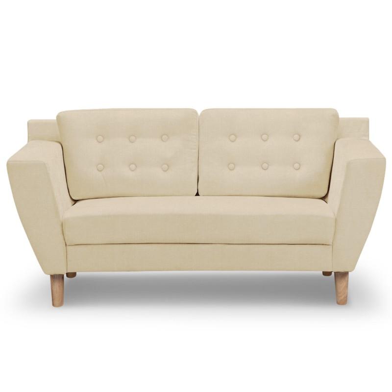 canap 2 places scandinave vintage tissu beige pas cher scandinave deco. Black Bedroom Furniture Sets. Home Design Ideas