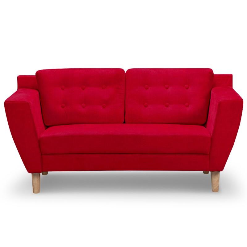 canap 2 places scandinave vintage tissu rouge pas cher scandinave deco. Black Bedroom Furniture Sets. Home Design Ideas