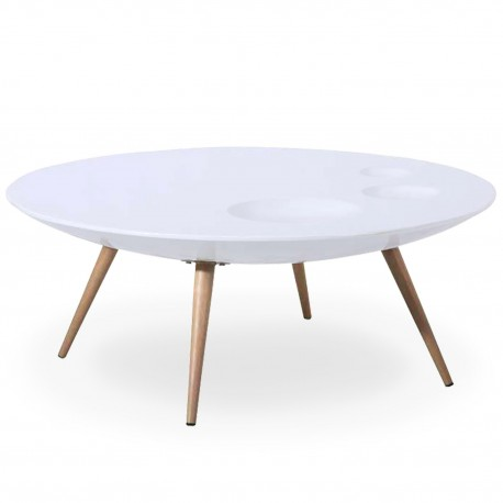 Table basse scandinave Blanc pas cher
