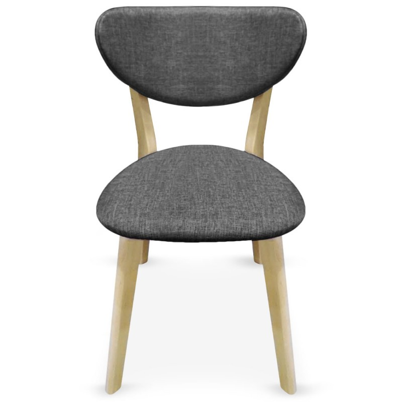 Chaise scandinave gris fonc x 2 pas cher scandinave deco - Chaise pas cher grise ...