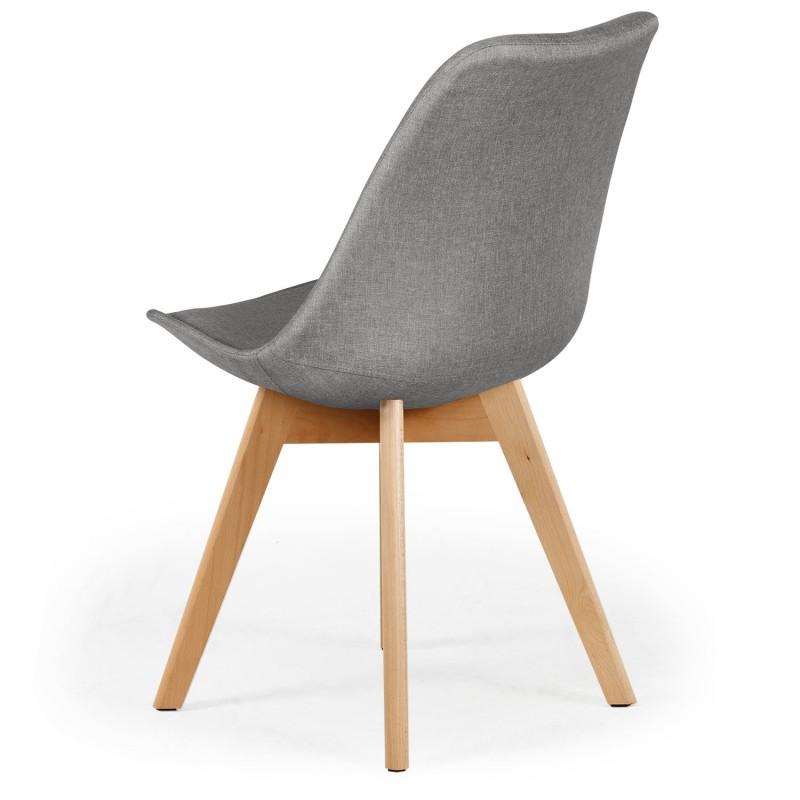 chaise scandinave en tissu gris ericka lot de 4 pas cher. Black Bedroom Furniture Sets. Home Design Ideas