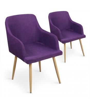 Lot de 4 chaises scandinaves Lea Violet