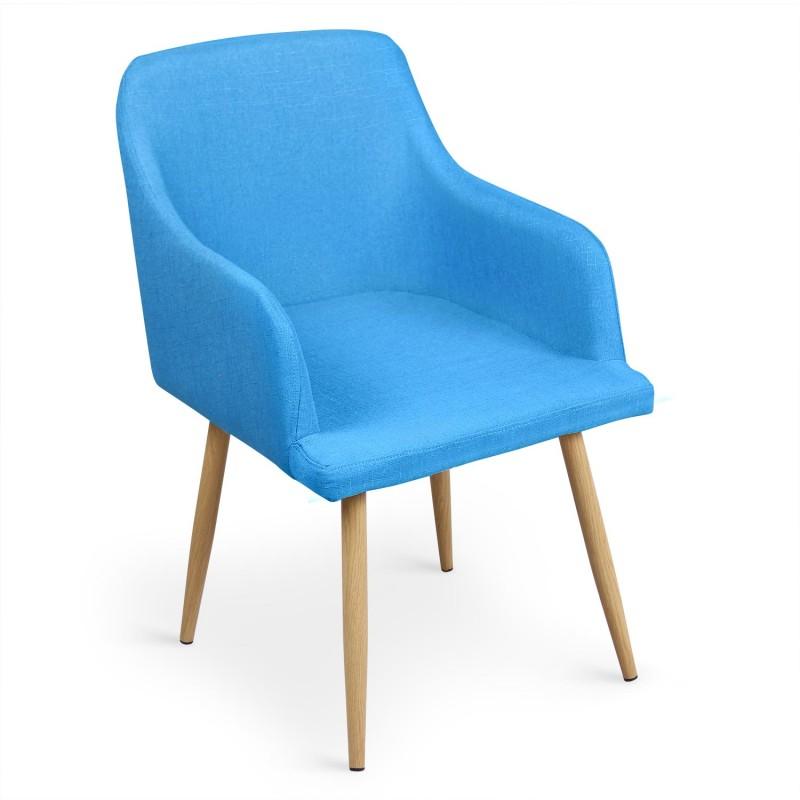 lot de 4 chaises scandinaves lea bleu pas cher. Black Bedroom Furniture Sets. Home Design Ideas