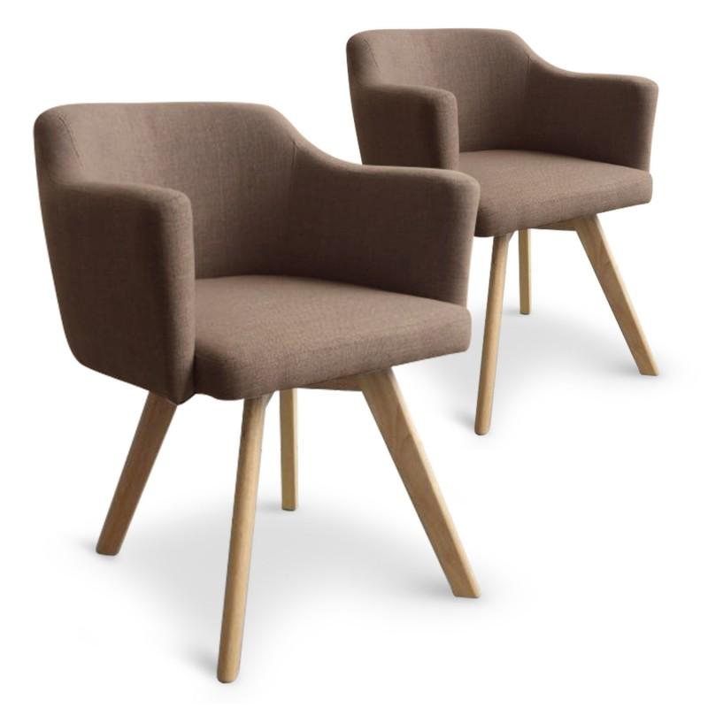 fauteuil scandinave taupe en tissu rigo lot de 2 pas cher scandinave deco. Black Bedroom Furniture Sets. Home Design Ideas