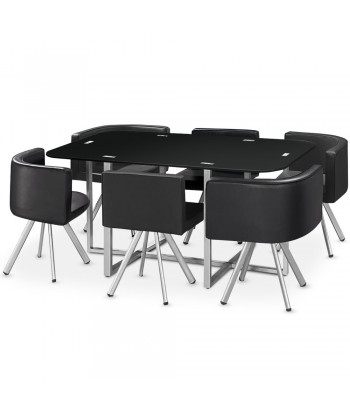 Table Scandinave Grand format Noir pas cher