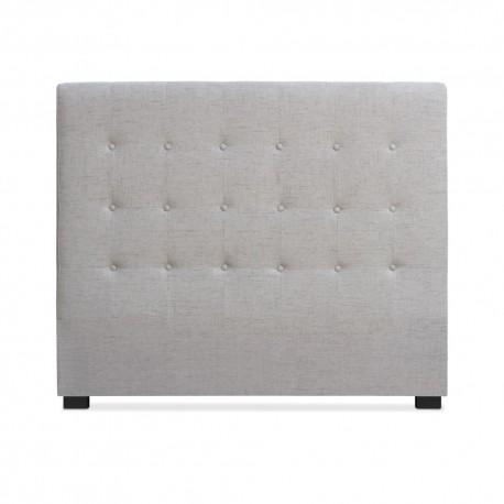Tête de lit Matelassée 140cm Tissu Beige pas cher