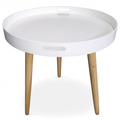 table d 39 appoint ronde scandinave blanc pas cher scandinave deco. Black Bedroom Furniture Sets. Home Design Ideas