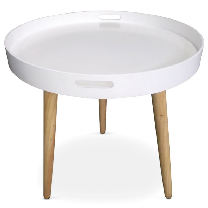 Table d 39 appoint ronde scandinave blanc pas cher for Table ronde blanc