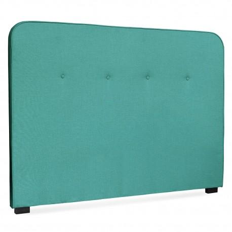 Tête de lit Scandinave Kirstyn 160cm Tissu Vert pas cher