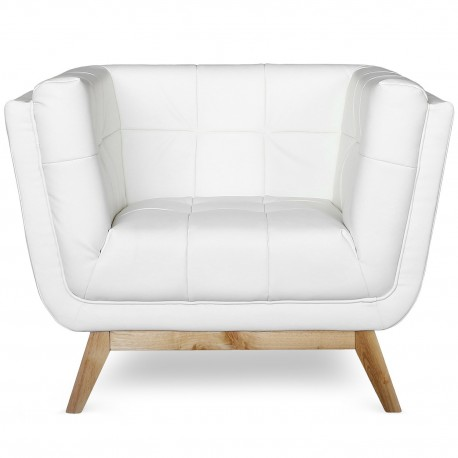 Fauteuil scandinave Blanc Malena
