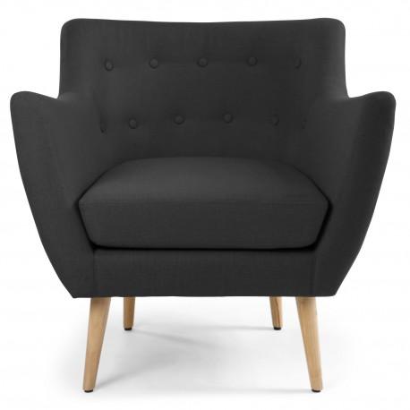 fauteuil scandinave stuart tissu noir pas cher scandinave deco. Black Bedroom Furniture Sets. Home Design Ideas
