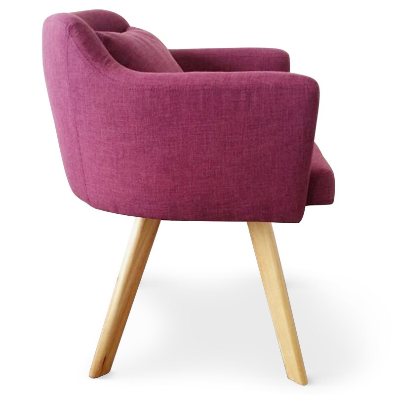 fauteuil scandinave rigo tissu violet pas cher scandinave deco. Black Bedroom Furniture Sets. Home Design Ideas