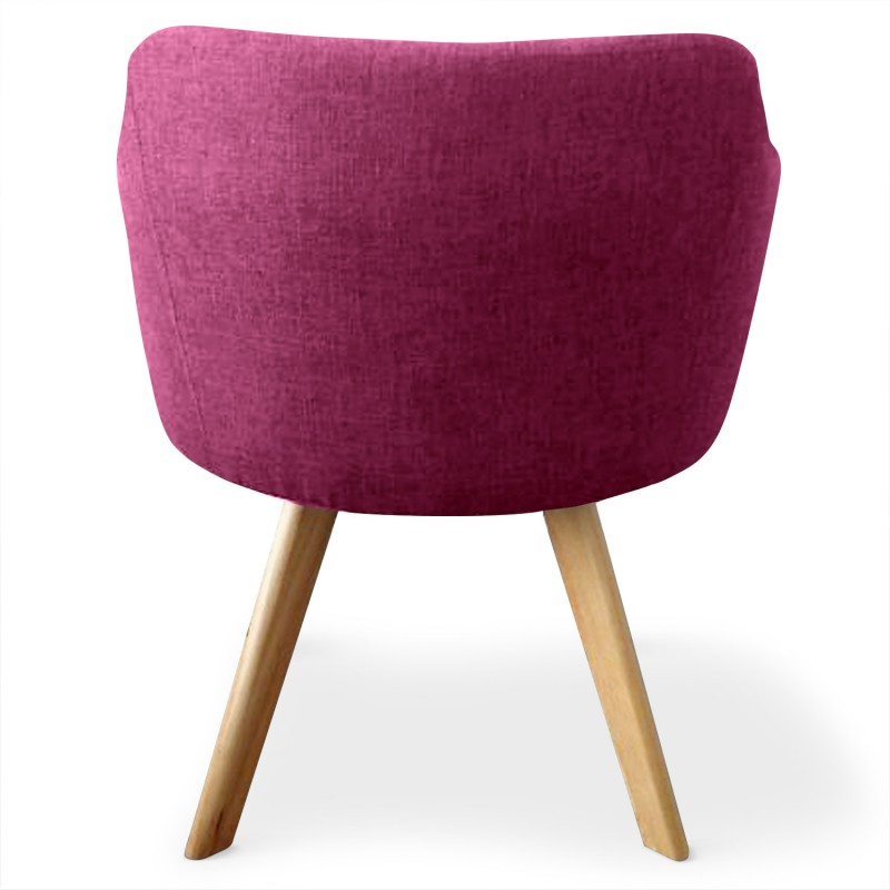 fauteuil scandinave rigo tissu violet pas cher. Black Bedroom Furniture Sets. Home Design Ideas