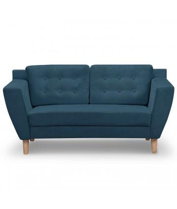Canapé 2 places Scandinave Vintage Tissu Bleu