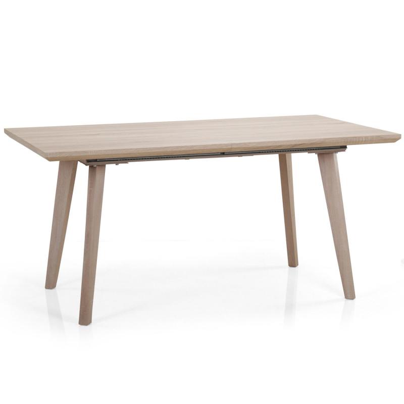Table Extensible Scandinave Chêne Clair Pas Cher