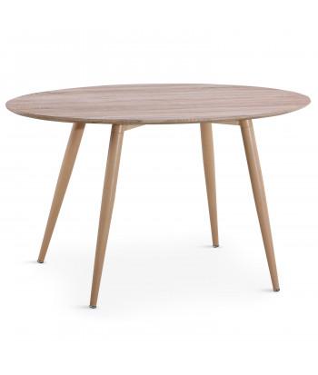 Table scandinave Ronde Chêne pas cher