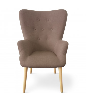 Fauteuil scandinave Newton Tissu Taupe pas cher