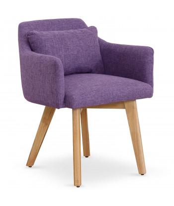 Chaise / Fauteuil scandinave Mels Tissu Violet pas cher