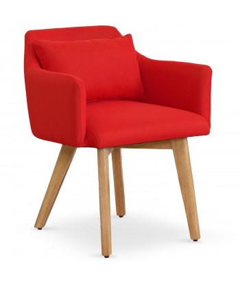 Chaise / Fauteuil scandinave Mels Tissu Rouge pas cher