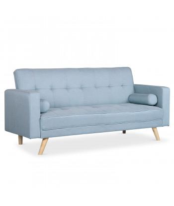 Canapé convertible scandinave Tissu Bleu clair - Cauzy pas cher