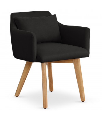 Chaise / Fauteuil scandinave Mels Tissu Noir pas cher