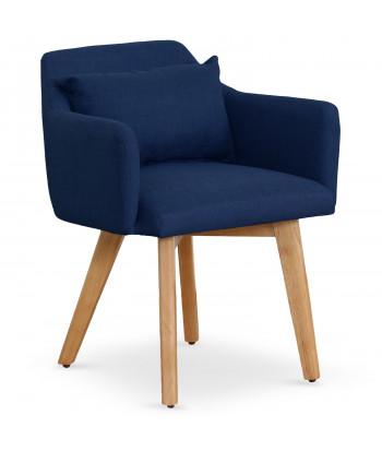Chaise / Fauteuil scandinave Mels Tissu Bleu pas cher