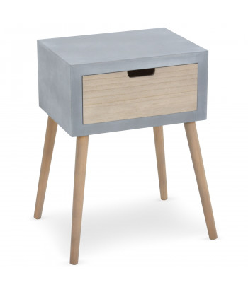 Table de chevet scandinave Gris pas cher