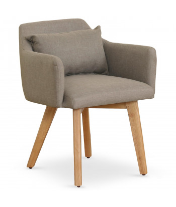 Chaise / Fauteuil scandinave Mels Tissu Taupe pas cher