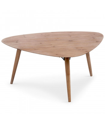 Table basse scandinave triangulaire Chêne pas cher