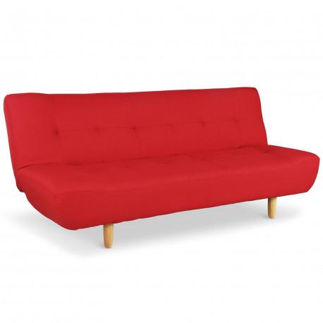 Canapé convertible scandinave Rouge - Zilw pas cher