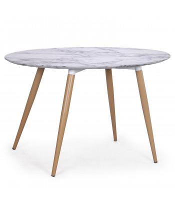 Table scandinave ovale effet Marbre pas cher
