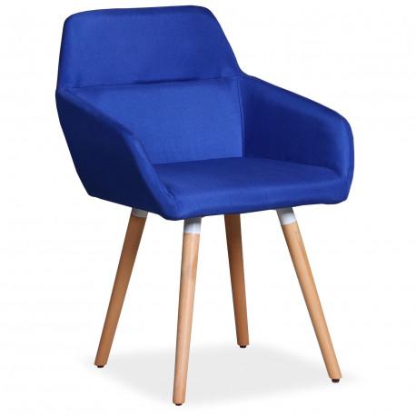 Chaise / Fauteuil scandinave Kurga Tissu Bleu pas cher