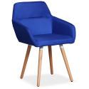 Chaise / Fauteuil scandinave Kurga Tissu Bleu