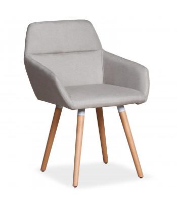 Lot de 2 chaises / Fauteuils scandinaves Kurga Tissu Beige pas cher