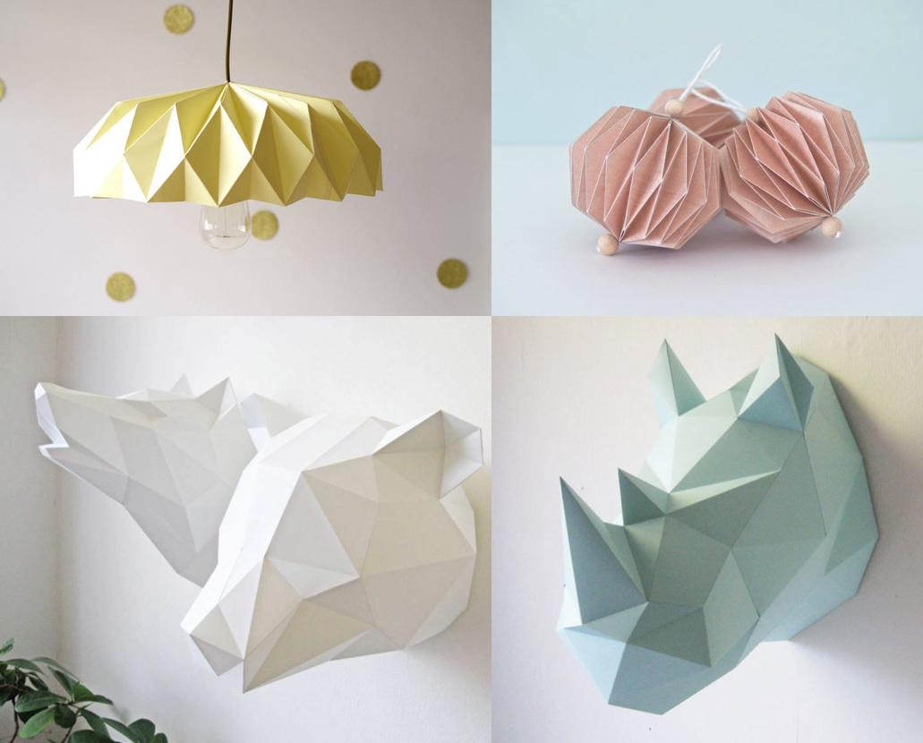 Diy Origami Scandinave Scandinave Deco